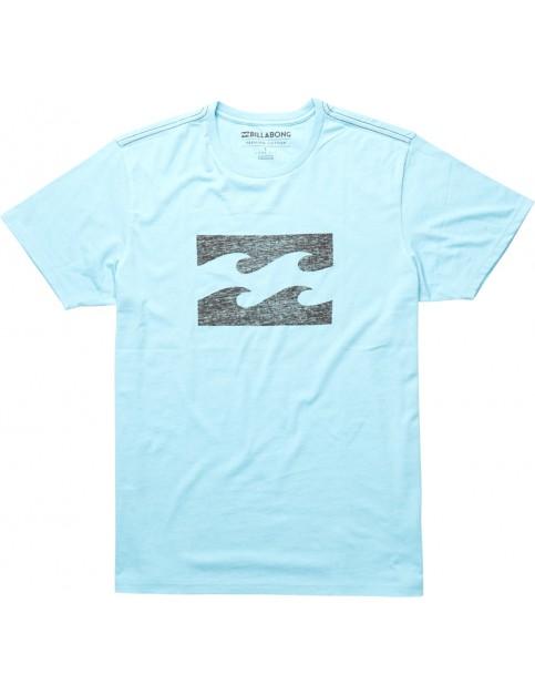 Billabong Ghosted Short Sleeve T-Shirt in Aqua Blue