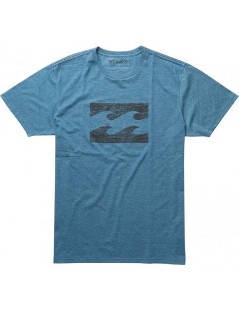 Billabong Ghosted Short Sleeve T-Shirt in Dark Marine Heather