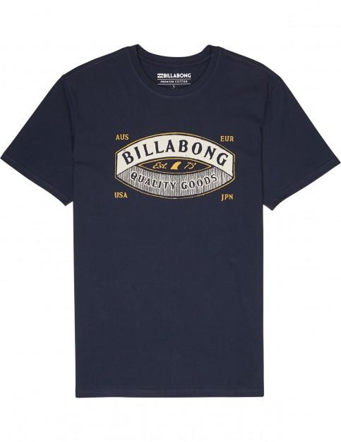 Billabong Guardiant Short Sleeve T-Shirt in Navy