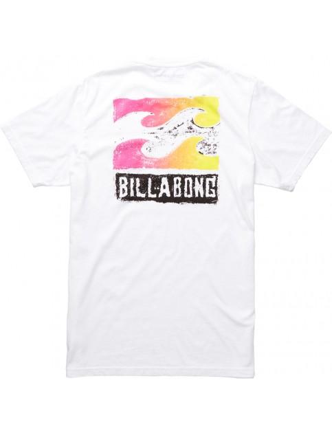 White Billabong Haze Short Sleeve T-Shirt