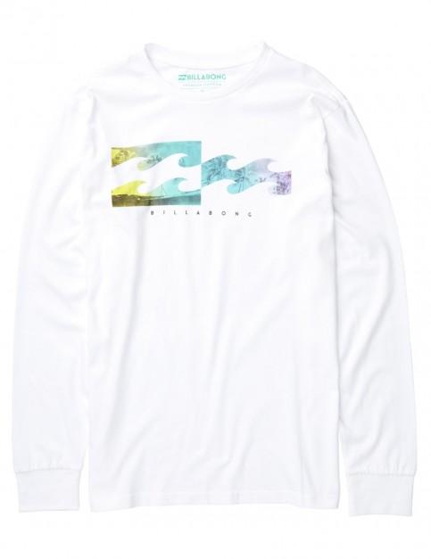 Billabong Inverse Long Sleeve T-Shirt in White