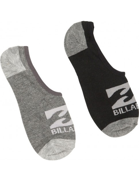 Billabong Invisible 2 pack No Show Socks in Assorted