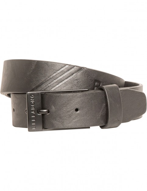 Billabong Junction Faux Leather Belt in Black