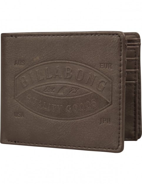 Billabong Junction Faux Leather Wallet in Brown