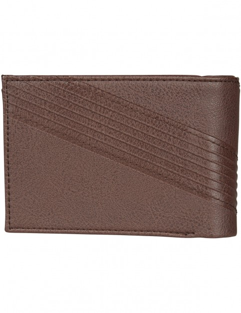 Billabong Junction Faux Leather Wallet in Chocolate