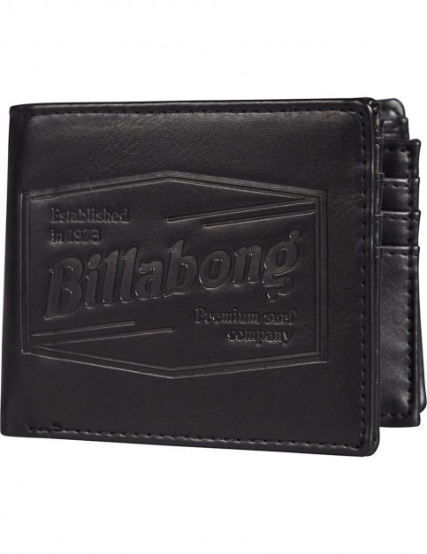 Billabong Junction Faux Leather Wallet in Black