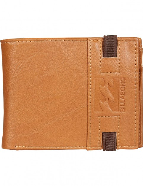 Billabong Locked Faux Leather Wallet in Tan