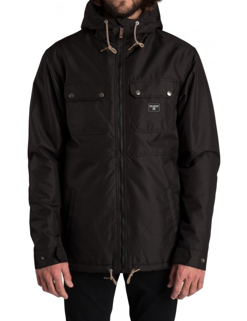 Billabong Matt Parka Jacket in Black