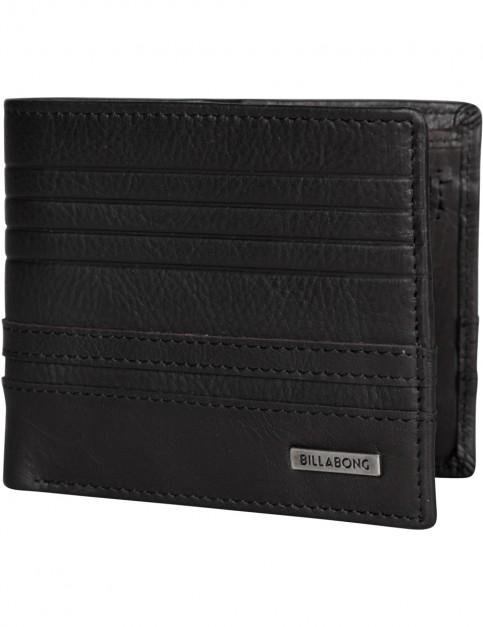 Billabong Phoenix Snap Leather Wallet in Black