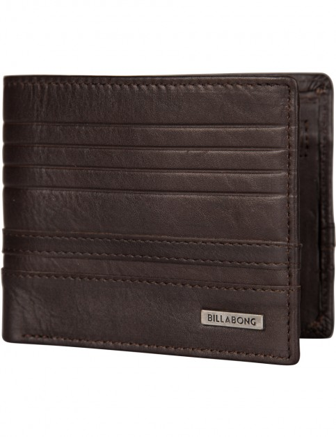 Chocolate Billabong Phoenix Snap Leather Wallet