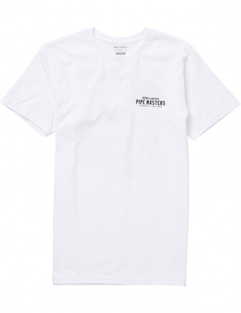 Billabong Pipe Collage Short Sleeve T-Shirt in White