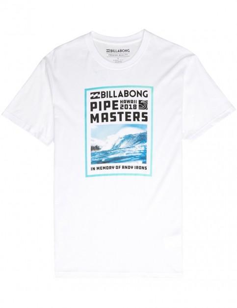 Billabong Pipe Poster Short Sleeve T-Shirt in White