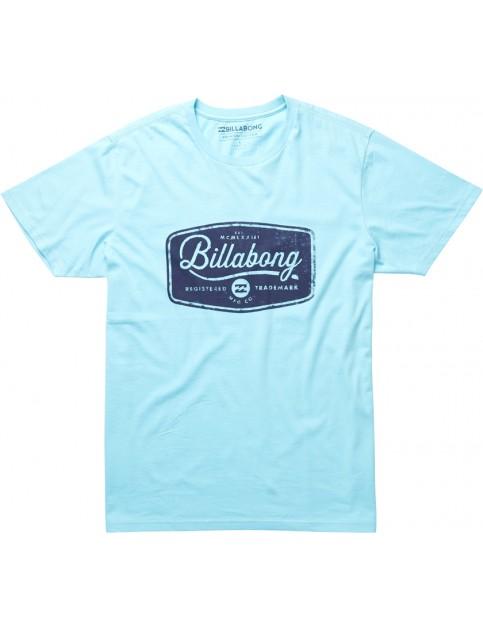 Light Blue Billabong Pit Stop Short Sleeve T-Shirt