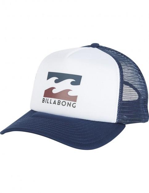 Billabong Podium Trucker Cap in White/multi