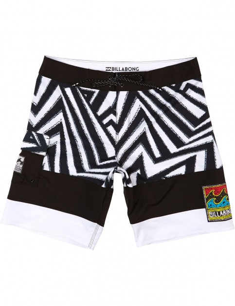 Billabong Pump Mid Length Boardshorts in Black/White
