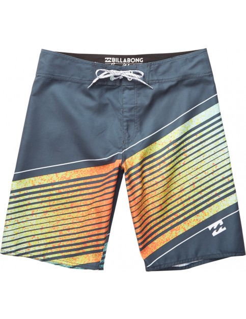 Billabong Resistance Mid Length Board Shorts in Charcoal