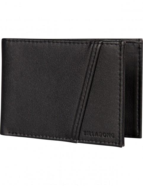 Billabong Revival Flip Faux Leather Wallet in Black
