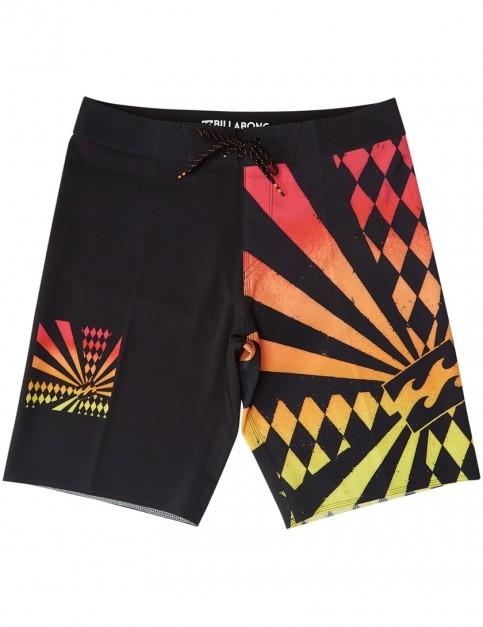 Billabong Rising Sun Mid Length Boardshorts in Black