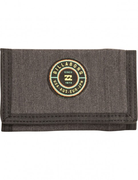 Billabong Rotor Polyester Wallet in Black Heather