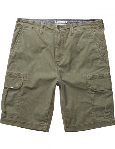 Billabong Scheme Cargo Shorts in Military