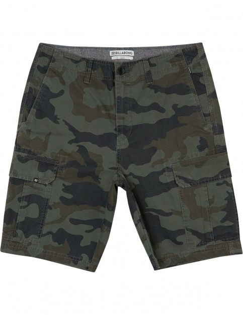 Billabong Scheme Cargo Shorts in Military Camo