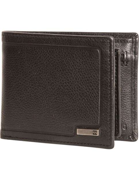 Billabong Scope Leather Wallet in Black