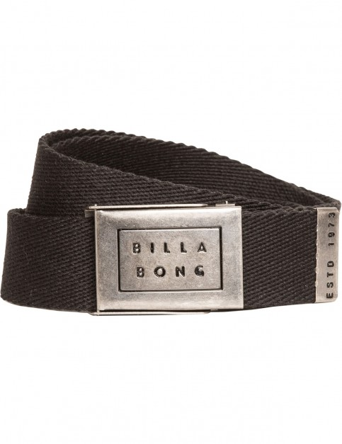 Billabong Sergeant Webbing Belt in Black