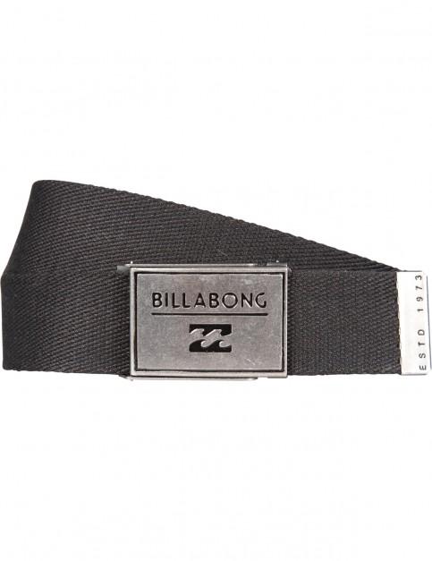 Billabong Sergeant Webbing Belt in Black