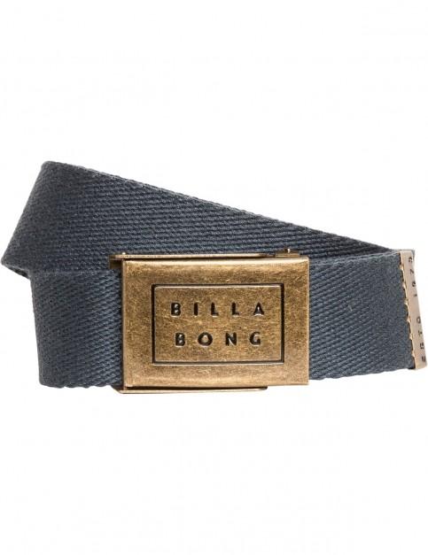 Billabong Sergeant Webbing Belt in Dark Slate