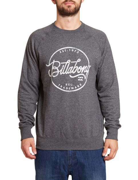 Billabong Sloop Crew Sweatshirt in Dark Grey Heather