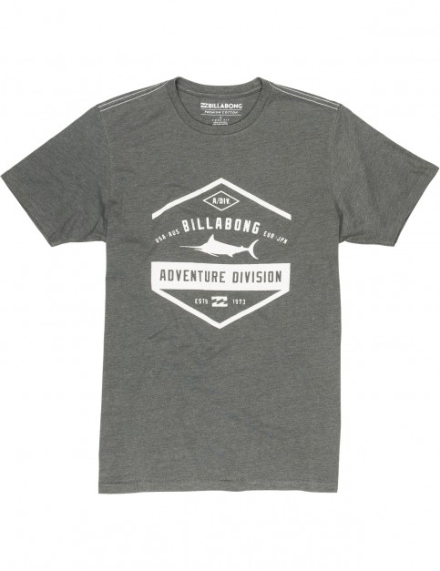 Billabong Spincast Short Sleeve T-Shirt in Dark Grey Heather