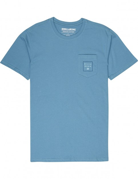 Billabong Stacked Short Sleeve T-Shirt in Washed Blue