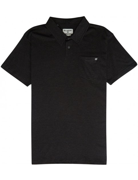 Billabong Standard Issue Polo Shirt in Black Heather