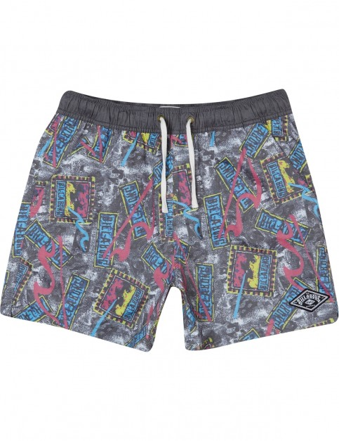 Billabong Sticker Elasticated Boardshorts in Black