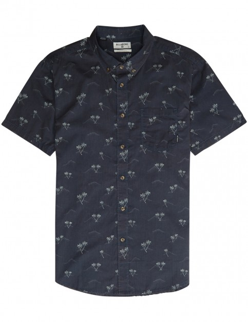 Billabong Sundays Mini Short Sleeve Shirt in Dark Royal