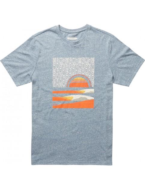 Slate Blue Billabong Sunset Abel Short Sleeve T-Shirt