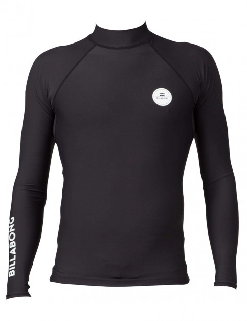 Billabong Surfplus Long Sleeve Rash Vest in Black