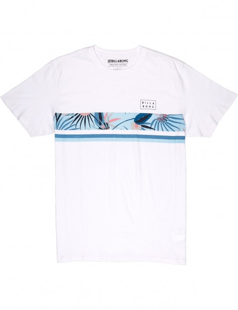 Billabong Team Stripe Short Sleeve T-Shirt in White