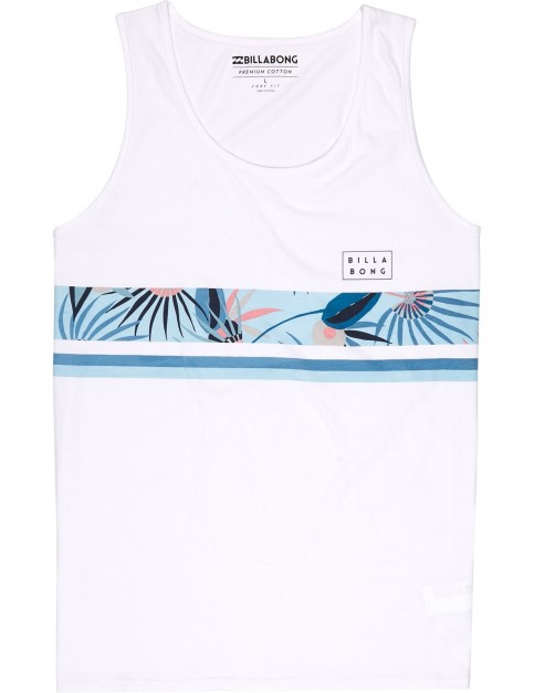 Billabong Team Stripe Sleeveless T-Shirt in White