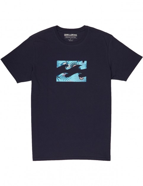Billabong Team Wave Short Sleeve T-Shirt in Navy