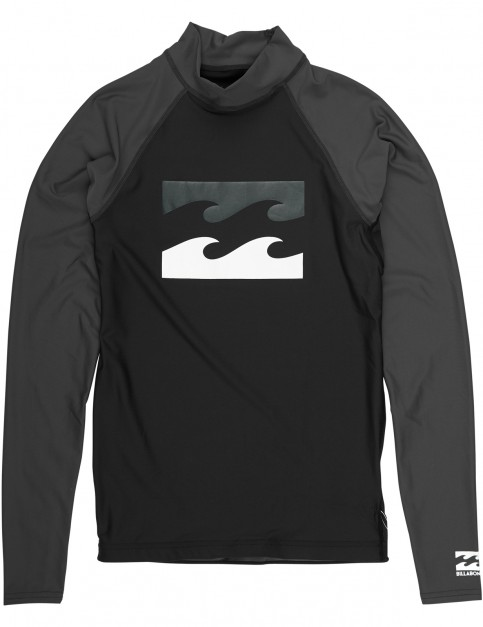 Billabong Team Waves Long Sleeve Rash Vest in Black