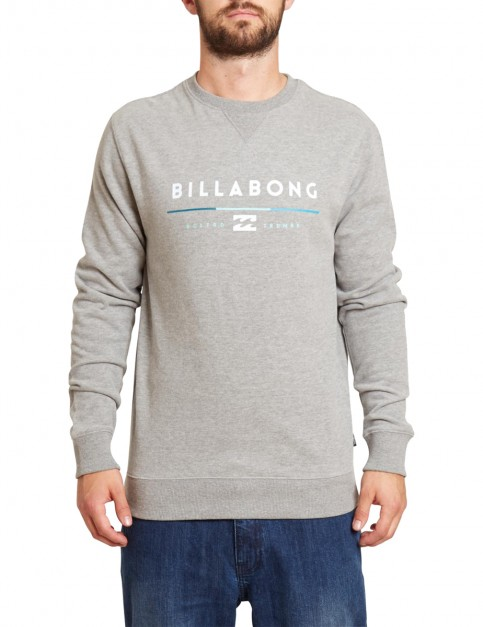 Billabong Tri Unity Crew Sweatshirt in Grey Heather