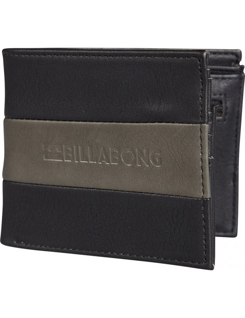 Billabong Tribong Big Bill Faux Leather Wallet in Black