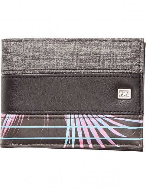 Billabong Tribong Faux Leather Wallet in Black Heather