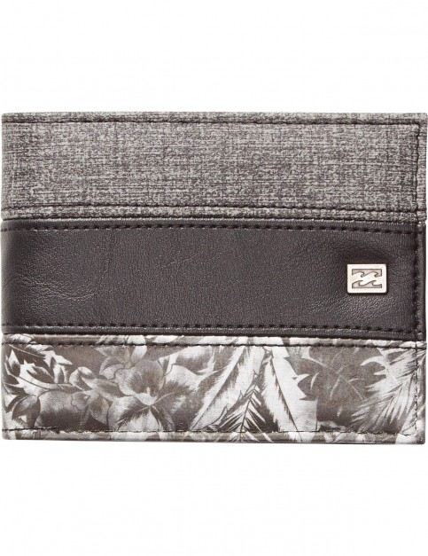 Billabong Tribong Faux Leather Wallet in Dark Grey Heather