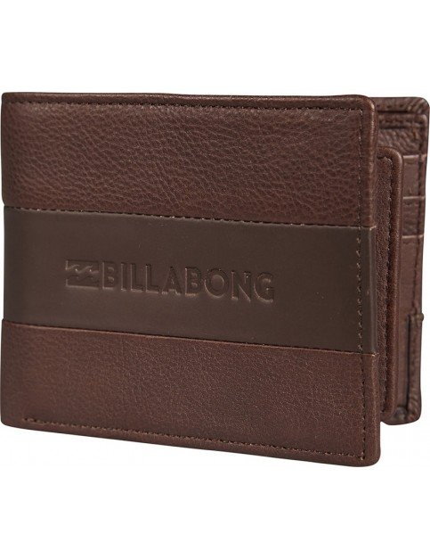 Billabong Tribong Leather Wallet in Chocolate