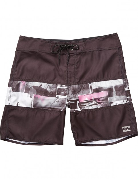Billabong Tribong Printed Short Boardshorts in Black/Purple