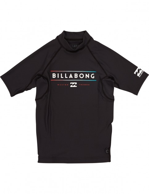 Billabong Unity Short Sleeve Rash Vest in Black