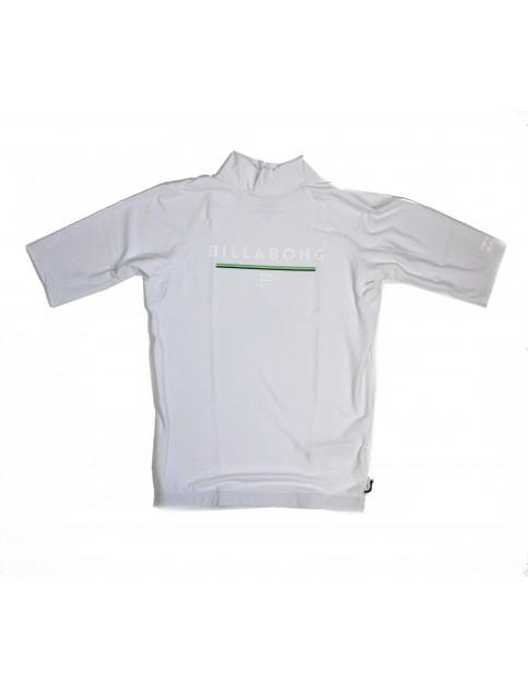 Billabong Unity Short Sleeve Rash Vest in White
