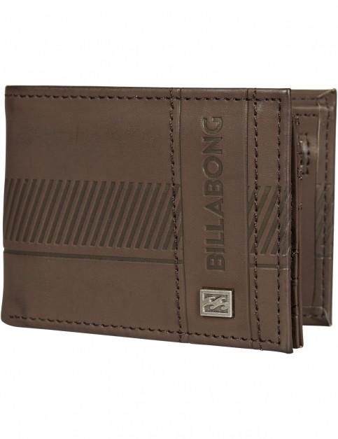 Billabong Vacant Faux Leather Wallet in Chocolate
